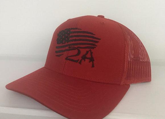 2nd Amendment With Flag Baseball Cap