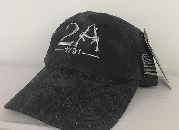 2nd Amendment Black Camo Baseball Cap