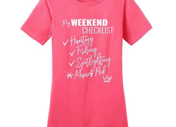 My Weekend Checklist