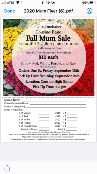 Fall Mum Fundraiser!