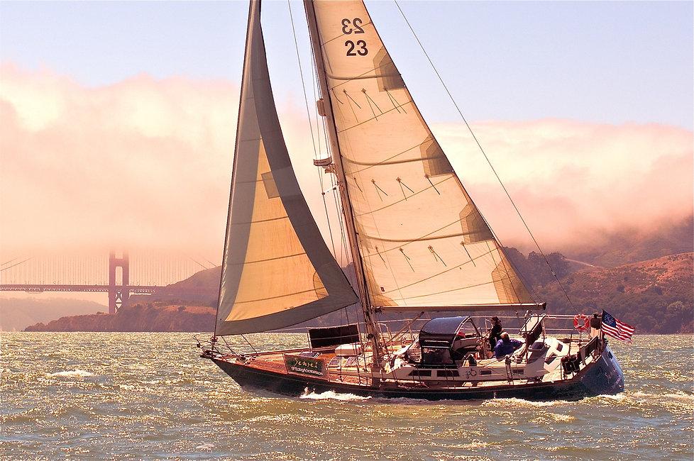 San Frnacisco Sailing Adventure sailing under the Golden Gate Bridge