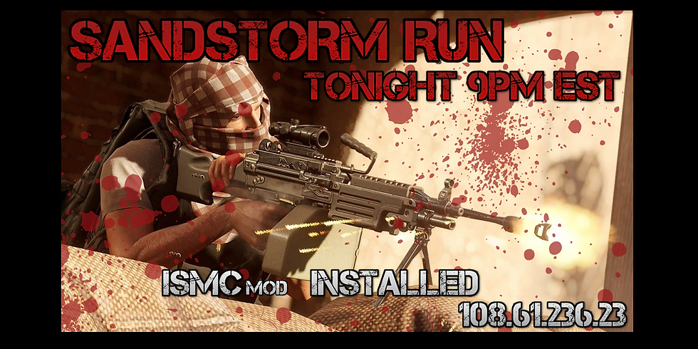 Sandstorm Run with ISMCmod