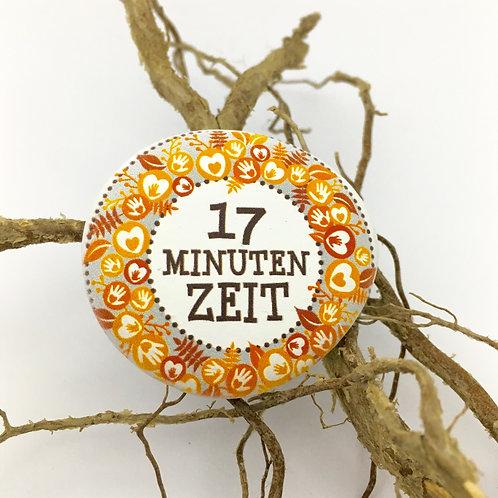 """Erinnerungs-Deko-Stein """"17 Minuten Zeit"""""""