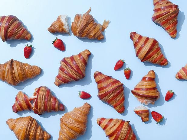 Croissants aux fraises