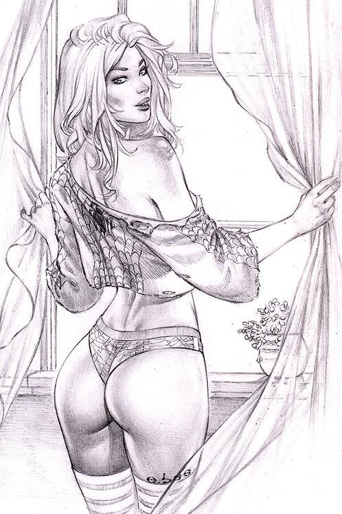 MaryJane GO ASS pencil (11x17 print)