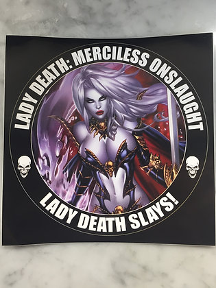 Lady Death Merciless Onslaught Sticker