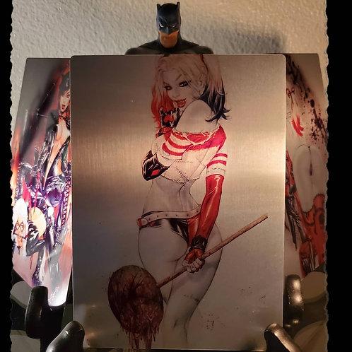 Harley Quinn Bloody Mallet (11x17 Metal print)