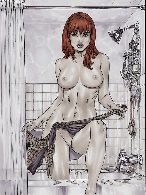 Mary Jane in the shower