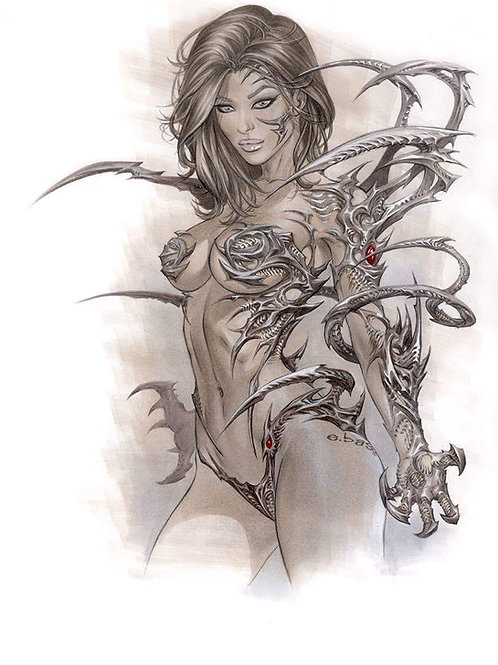Witchblade Copic Claws PRINT