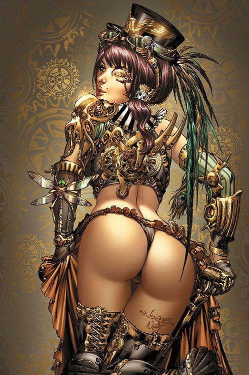 Steampunk Lady 11x17 PRINT