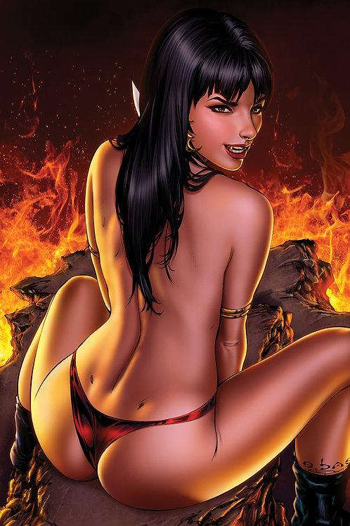 Vampirella GO ASS fire  (11x17 print) color
