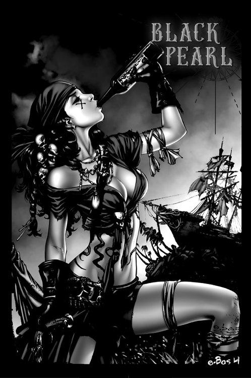 Mojo 1 Black Pearl Regular AP 4   (Comic Cover Printed on Pearl paper