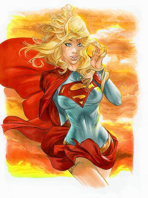 Sunset Supergirl