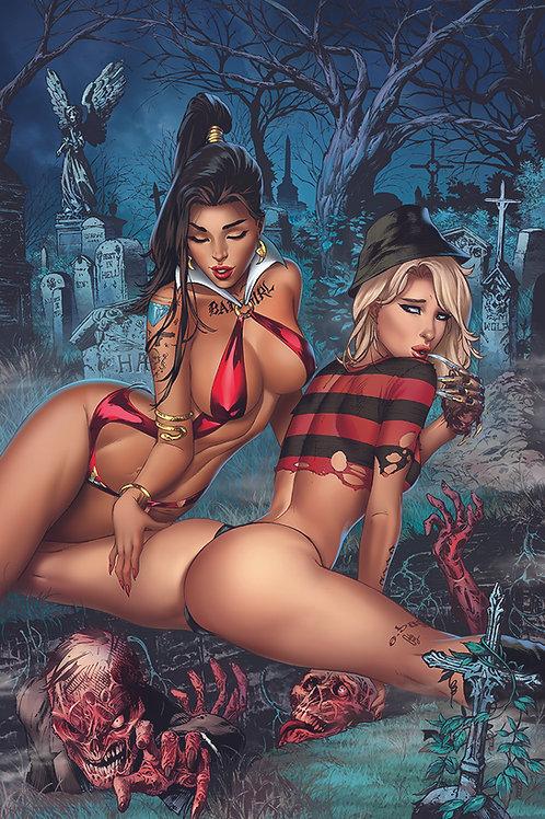 Notti and Nyce Vampirella Freddy Cosplay REG(11x17 PRINT)