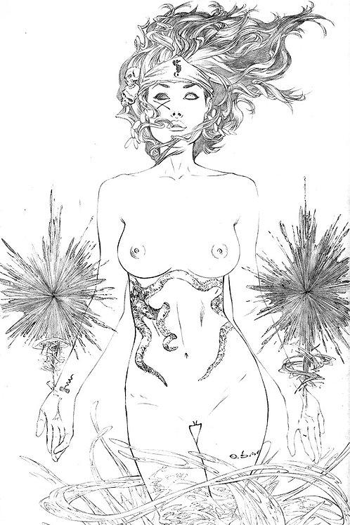 MOJO #2 Full NUDE Original Art