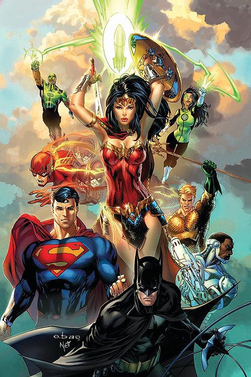 JLA #1 DC COMICS Rebirth 11x17 PRINT