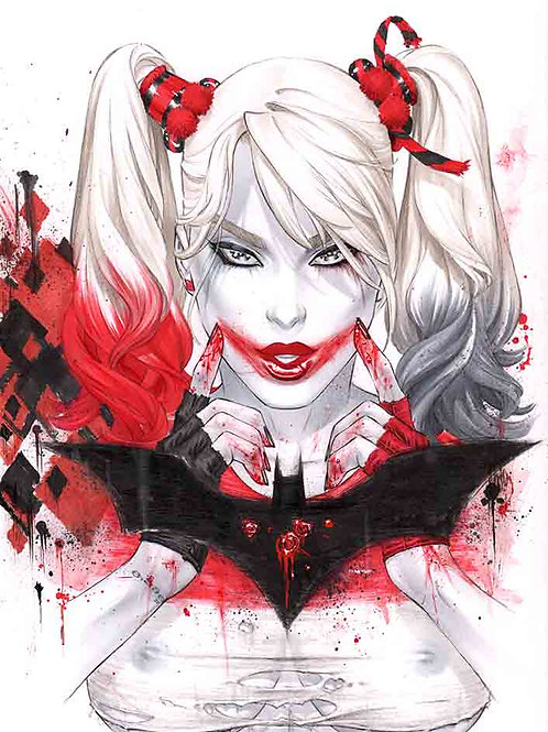 Harley Bloody Smile Naughty (11x17 print)