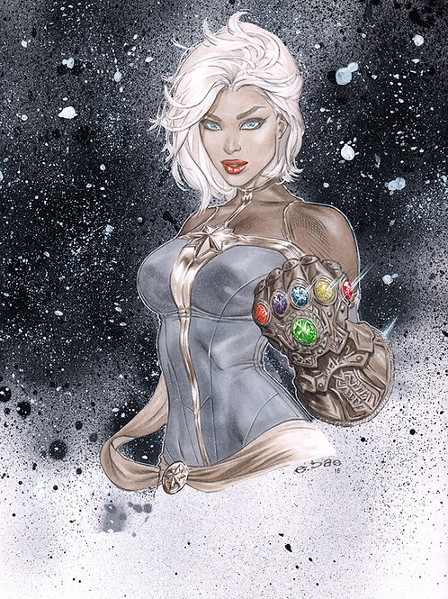 Captain Marvel Infinity Gauntlet Bust PRINT