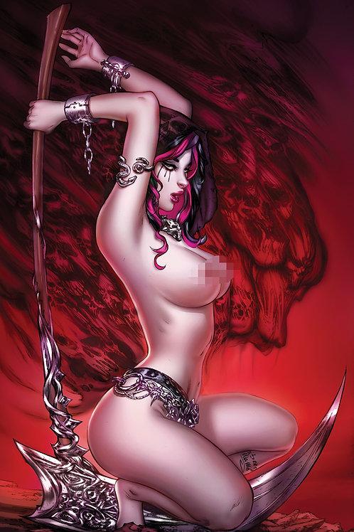Death and her Scythe   (11x17 print)