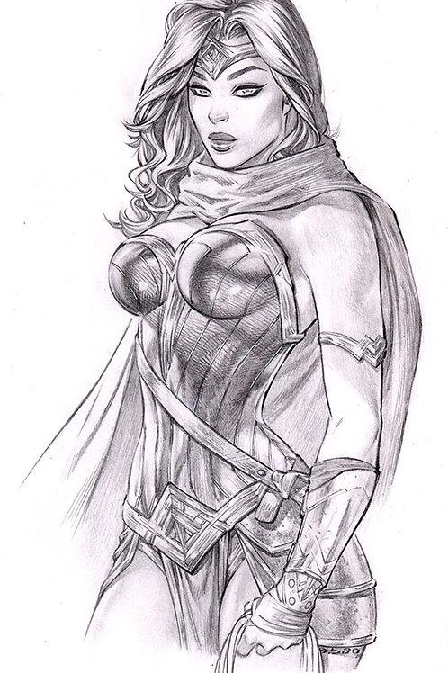 Wonder Woman Icon pencil (11x17 print)