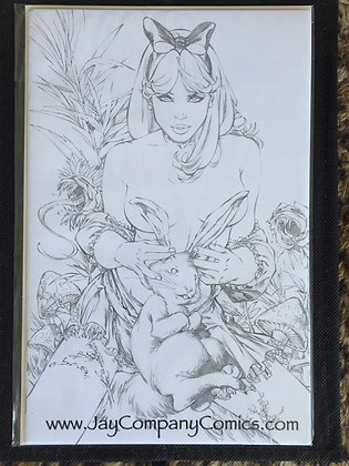 Jay Company Comics exclusive Line art Alice