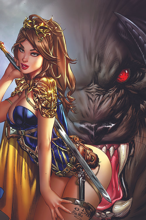 Beauty and the Beast ASS bite (11x17 print)