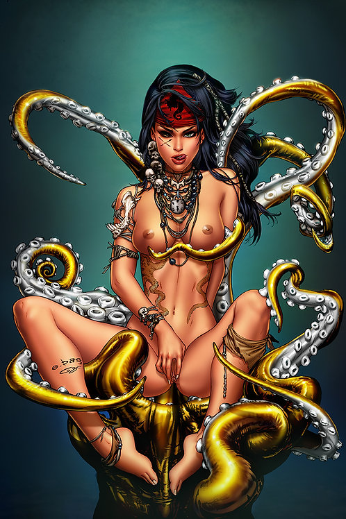 Mojo 5 Octopussy Nude(11x17 PRINT)