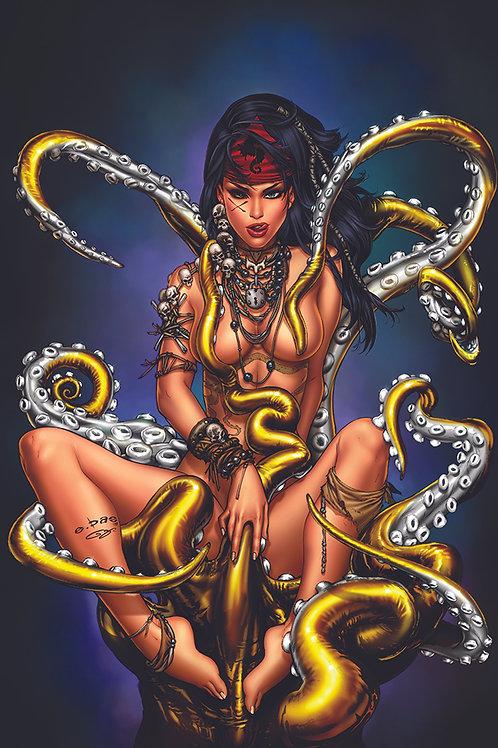 Mojo 5 Octopussy Censored Nude(11x17 PRINT)