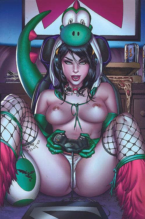 Yoshi Green Cosplay TOPLESS (11x17 Print)