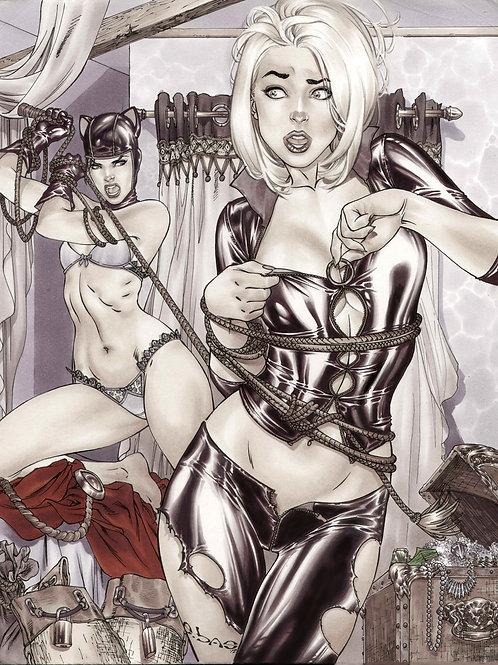 Cat Woman & Power Girl dress-up