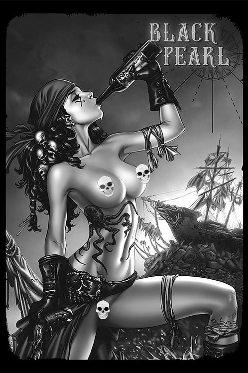 Mojo 1 Black Pearl Nude AP 2   (Comic Cover Printed on Pearl paper