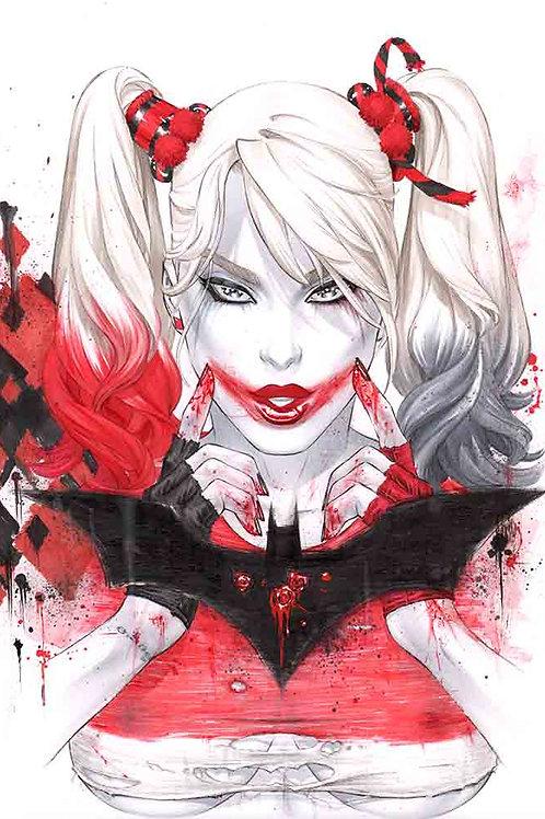 Harley Bloody Smile(11x17 print)