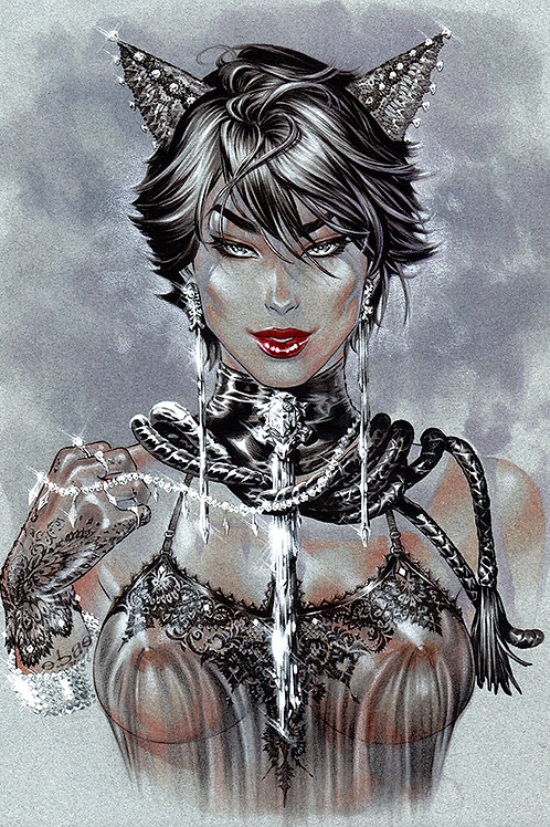 Catwoman Bejeweled (11x17 print)