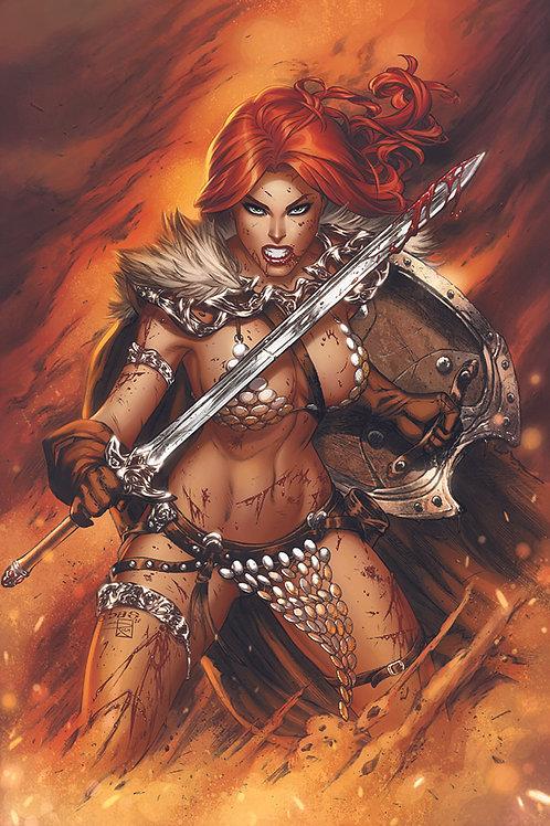 Red Sonja Power Stance  (11x17 print)