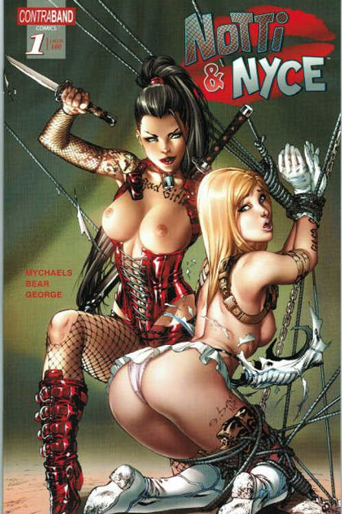 Notti and Nyce #1 TOPLESS(11x17 PRINT)