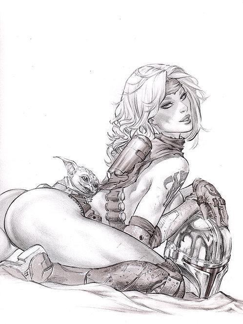 Mandalorian GO ASS  (11x17 print)