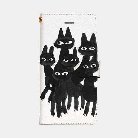 Mobile Case - アイスランドの黒猫たち
