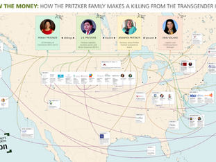 Follow the Money: How the Pritzker Family Makes a Killing From the Transgender Industry (Flow Chart)