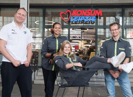 Konsum Leipzig als Unterstützer und Arbeitgeber