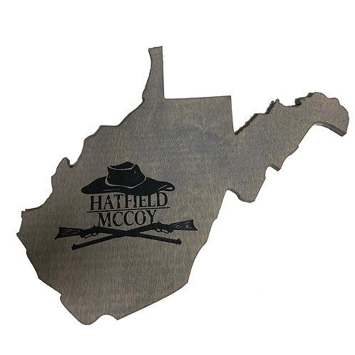 West Virginia - Wood Art Wall Decor