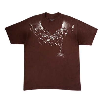 ROSARY TEE (BROWN HAND-DYED)