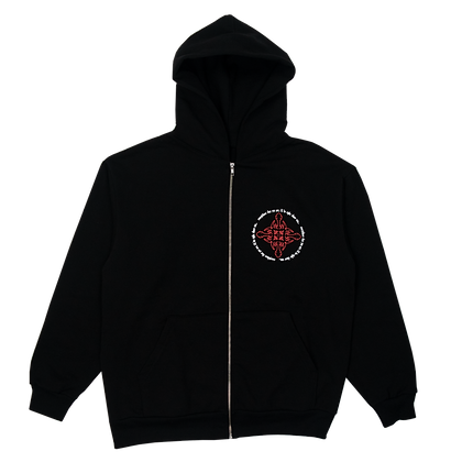 """EVERYWHERE THAT YOU ARE"" HOODIE (BLACK/RED)"