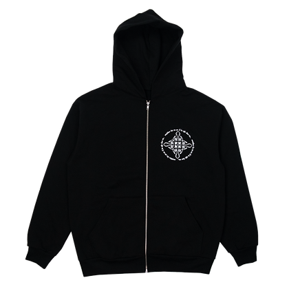 """""""EVERYWHERE THAT YOU ARE"""" HOODIE (BLACK/WHITE)"""