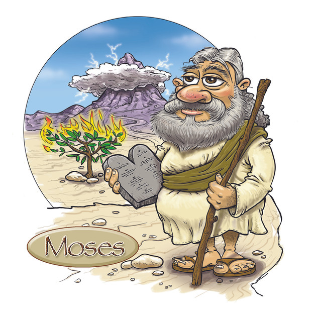 Moses w Staff & Tablets