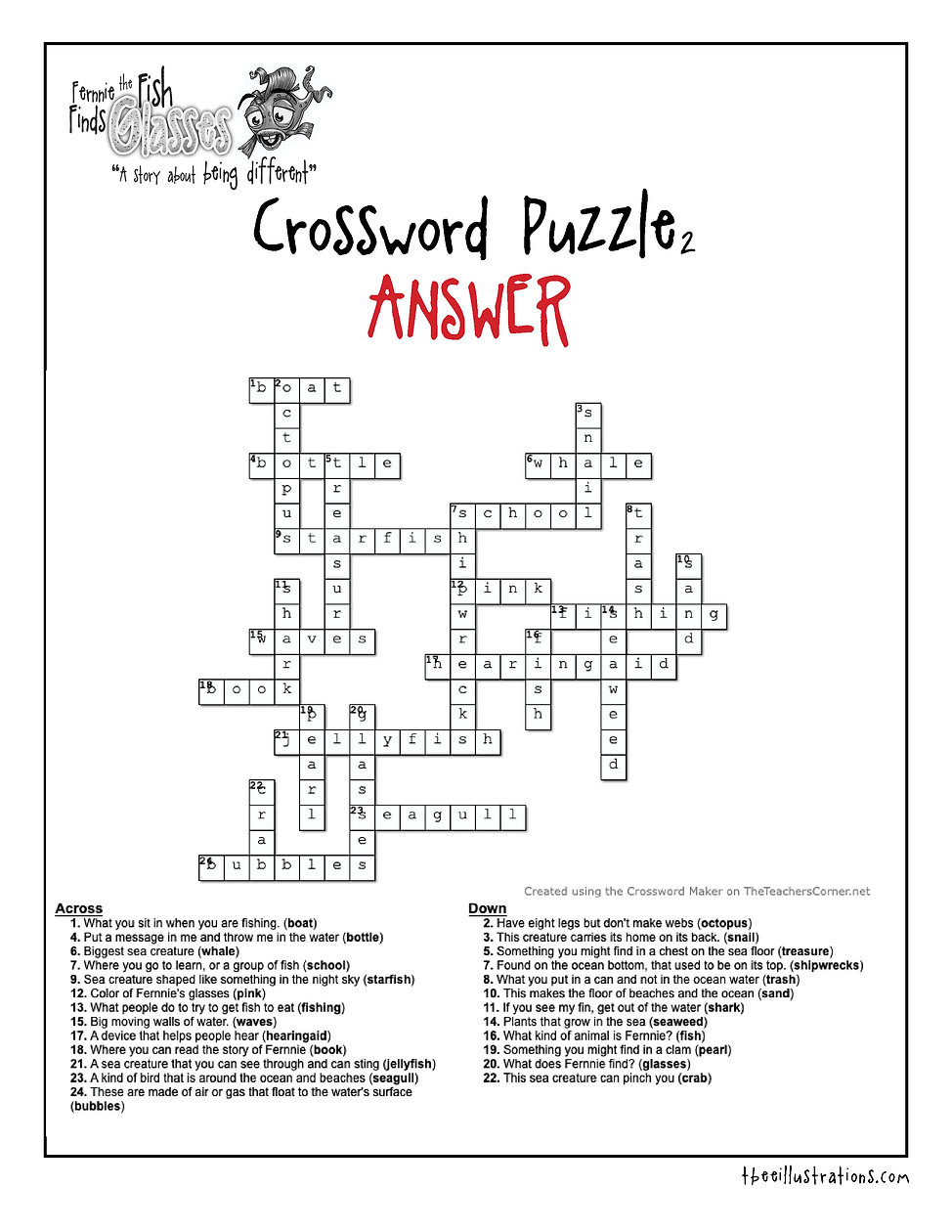 Crossword 2 -answer Fernnie Puzzles.jp