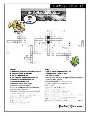 Crossword-ocean words-Fernnie Puzzles.jp