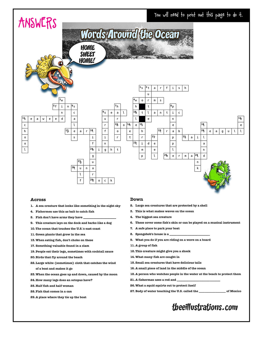 Crossword-around-ocean-answers4online.jp