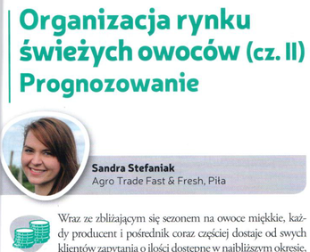 Article: organization of the fresh fruit market: forecasting