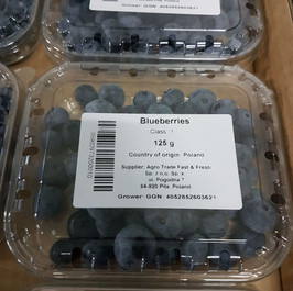 Blueberries with our label