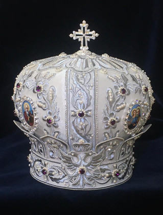 Mitre presented to His Eminence